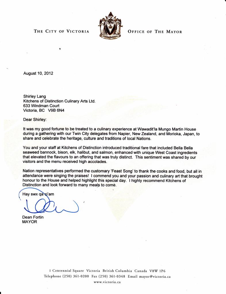 Mayor Fortin Letter