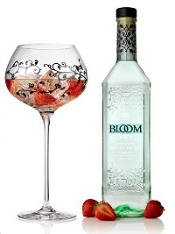 Bloom gin and floral glass