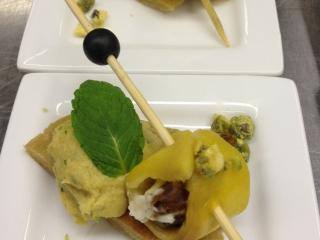 Delicious food prepared by Chef Shirley Lang
