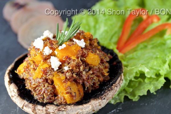 Kabocha Squash, Red Quinoa & Feta with Maple Balsamic