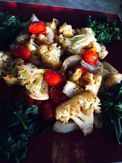 Roast Zatar Cauliflower