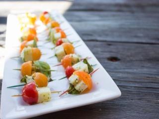 Fresh Tomato Basil Bocconcini Skewers