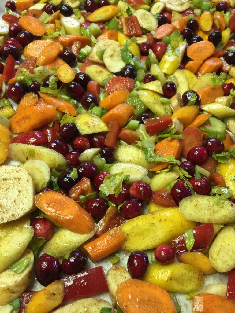 Moroccan Roasted Vegetables with Cranberry