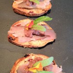 Roast Duck With Cool Radish Crostini