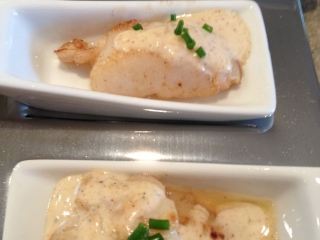 Halibut with Brown Butter Lime 5 Spice Sauce