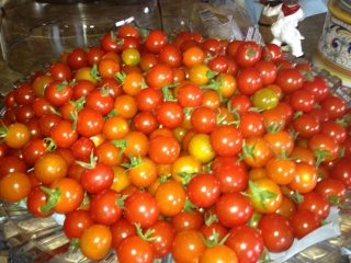 Tomatoes from Chef Shirley Lang's garden