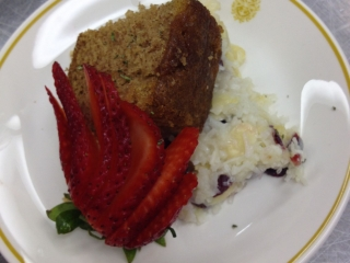 Olive Oil, Rosemary, Orange Cake with Coconut, Almond, Cranberry Bar