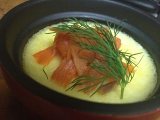 Parmesan Custard with Smoked Salmon & Dill