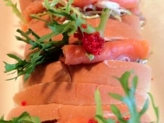 Mini Smoked Salmon Sandwiches